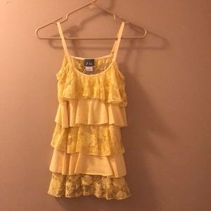 Dots NWOT Lace yellow tank top size S